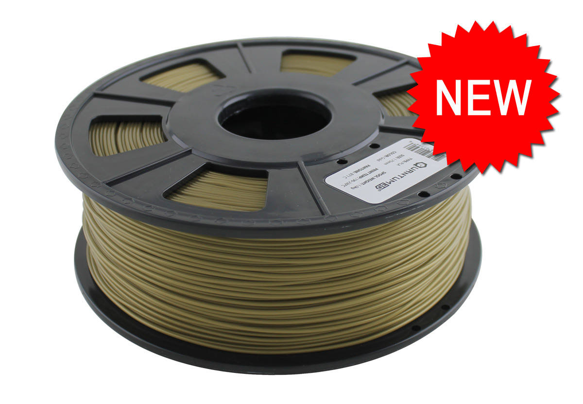 gold mm pla 3d printing filament 1 0 kg roll quantum 3d printing. Black Bedroom Furniture Sets. Home Design Ideas