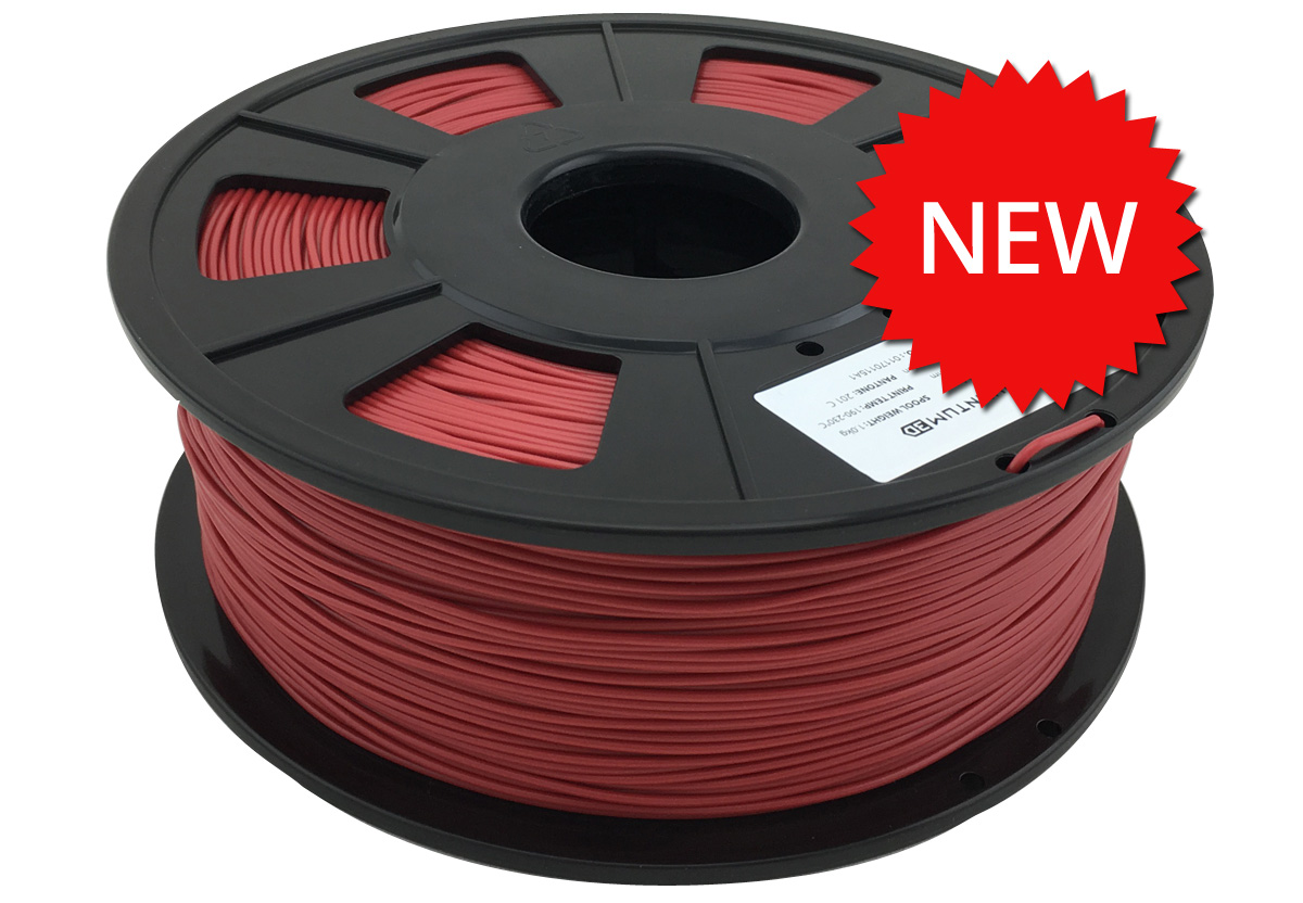 crimson mm pla 3d printing filament 1 0 kg roll quantum 3d printing. Black Bedroom Furniture Sets. Home Design Ideas